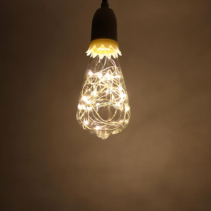 "Лампа светодиодная декоративная ""Ретро"" ST64, 145 х 64 мм, Е27, 3 Вт, 230 В, Тепло-Белый"