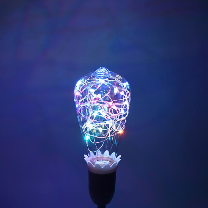 """Лампа светодиодная декоративная """"Ретро"""", ST64, 3 Вт, E27, 145х64, RGB (7 цветов)"""