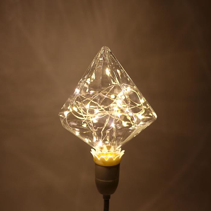 "Лампа светодиодная декоративная ""Бриллиант"", G110, 3 Вт, E27, 180х110, теплый белый"