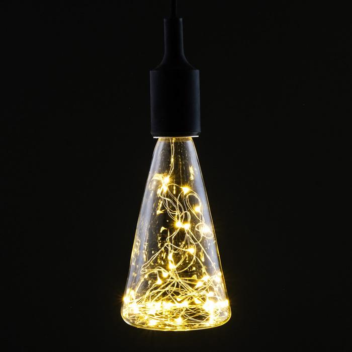 """Лампа светодиодная декоративная """"Бутылка малая"""", 3 Вт, E27, 190х90, теплый белый"""