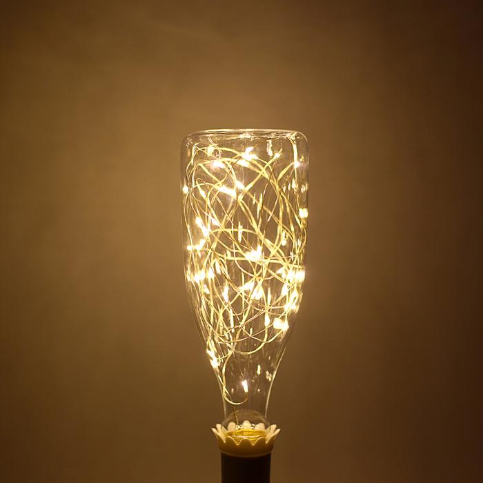 """Лампа светодиодная декоративная """"Бутылка большая"""", 3 Вт, E27, 230х80, теплый белый"""