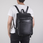 Рюкзак молодёжный, отдел на молнии, 4 наружных кармана, цвет чёрный