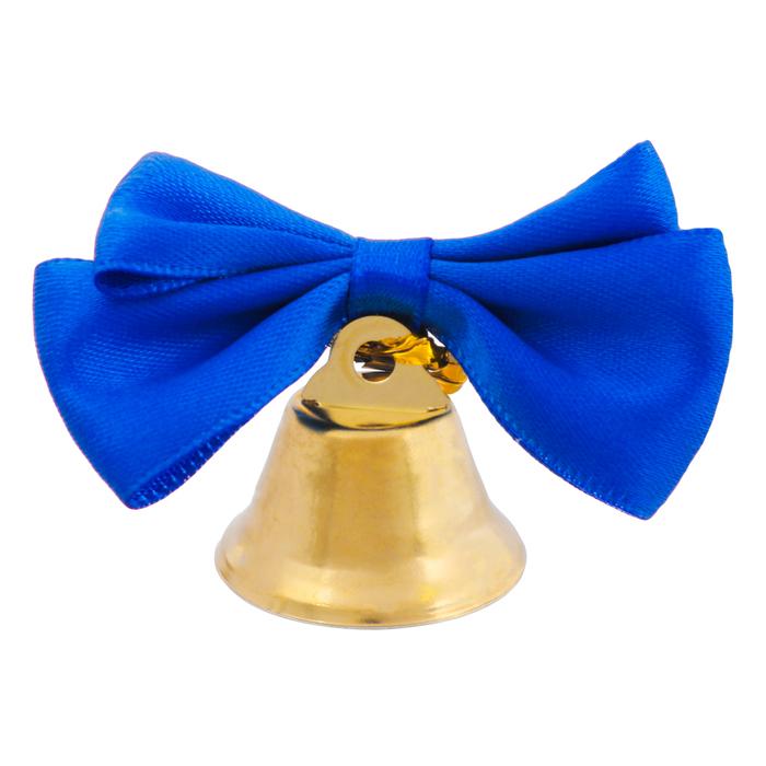 Колокольчик с тёмно-синей бабочкой, d=2,6 см - фото 8442401