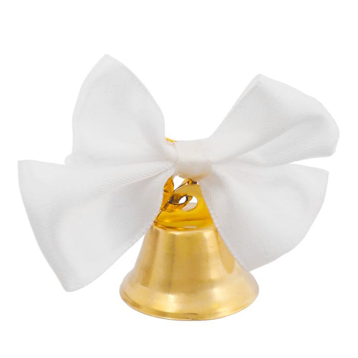 Колокольчик с белой бабочкой, d=2,6 см - фото 8442404