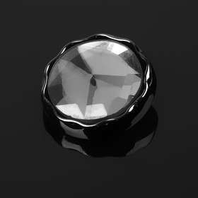 """A set of decorative buttons in """"snowflake"""", d=30mm, 6pcs, black"""