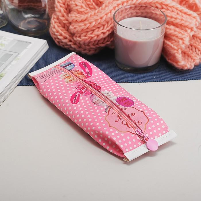 Косметичка-пенал, отдел на молнии, цвет розовый