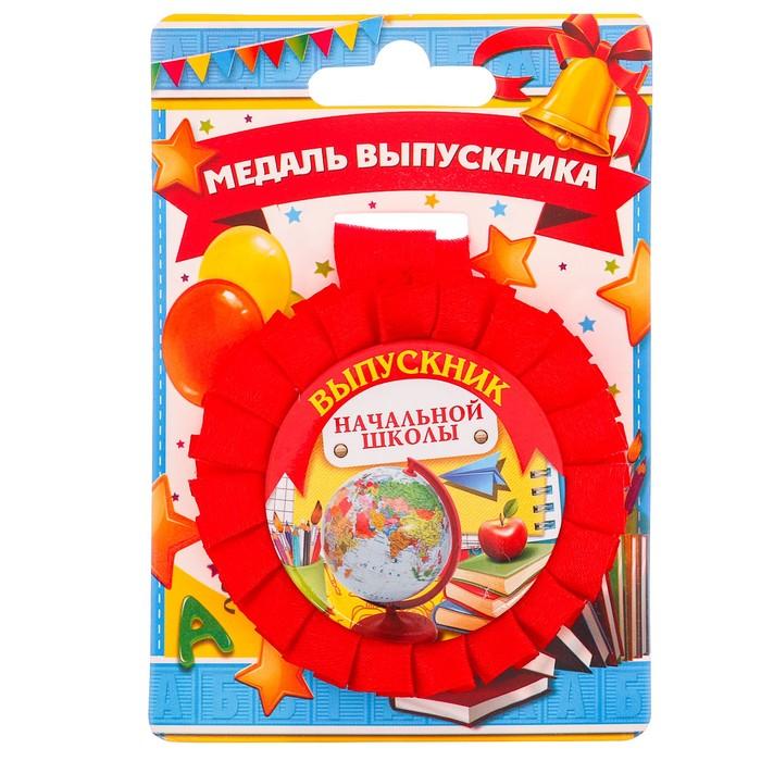 """Медаль розетка """"Выпускник начальной школы"""""""