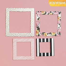 """Set of decorative frames with embossed """"Floral madness"""", 21 x 14,8 cm"""