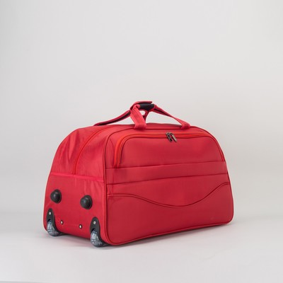 Сумка дорожная на колёсах, 1 отдел, наружный карман, цвет красный