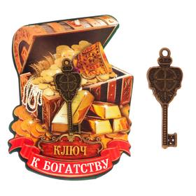 "Key ""To riches"", 8.5 x 5.5 cm"