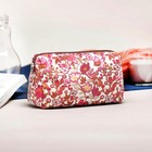 Cosmetic bag road, division zipper, color raspberry
