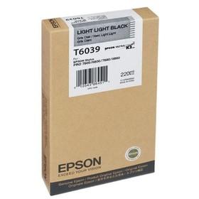 Картридж струйный Epson C13T603900 светло-серый для Epson Sty Pro 7800/9800/7880/9880 (220мл)   1724