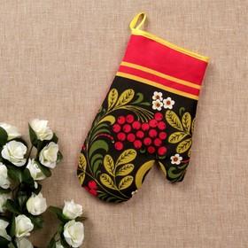 Прихватка - рукавица «Хохлома», сувенирная