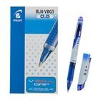 Ручка-роллер PILOT V-Ball Grip, узел 0.5мм, чернила синие, линия 0.3мм, резиновый упор