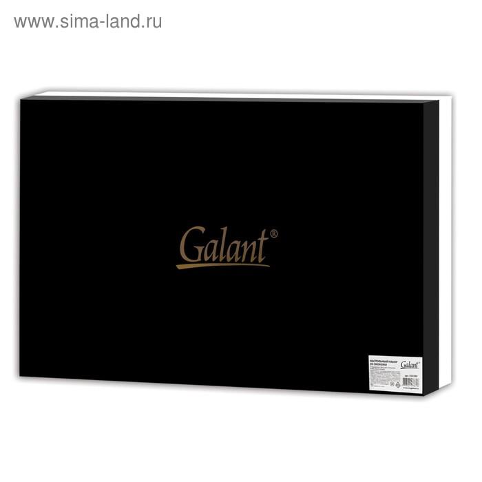 Набор настольный GALANT из экокожи, 7 предметов, под гладкую кожу, темно-коричневый 232280