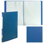 Папка с 10 прозрачными вкладышами, А4, 500 мкм, синяя
