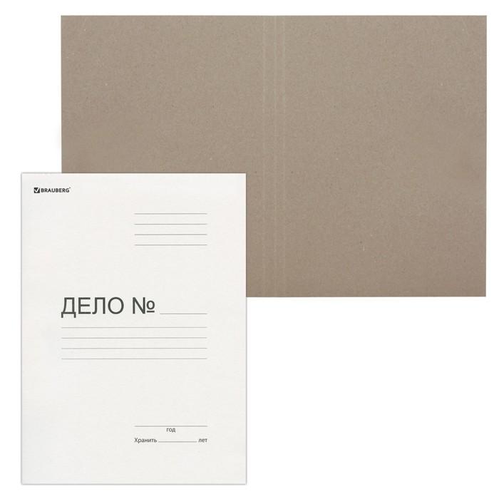 Папка-обложка Дело, 300г/м2 белая немелов 124571
