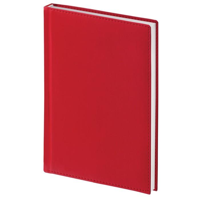 Ежедневник полудатированный А5, 192 листа BRAUBERG New York, под мягкую кожу, бордовый