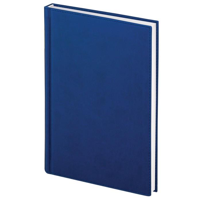 Ежедневник полудатированный А5, 192 листа BRAUBERG New York, под мягкую кожу, синий