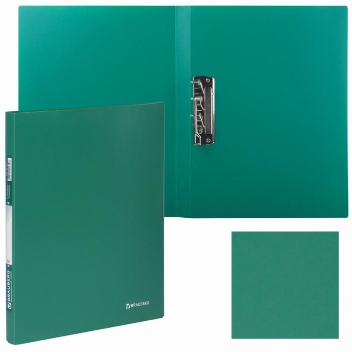 Папка c зажимом BRAUBERG Стандарт 0,6мм, зеленый 221627