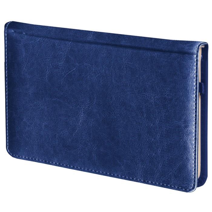 Ежедневник недатированный А6, 72 листа BRAUBERG Imperial, под гладкую кожу, синий