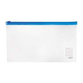 Папка-конверт на молнии BRAUBERG Россия 250*135мм, прозрач 226032 Ош