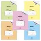 Тетрадь 12 листов в крупную клетку, BRAUBERG ЭКО «Пастельная с уголком», микс