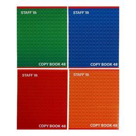 Тетрадь 48 листов линейка STAFF «Конструктив», обложка мелованный картон, микс