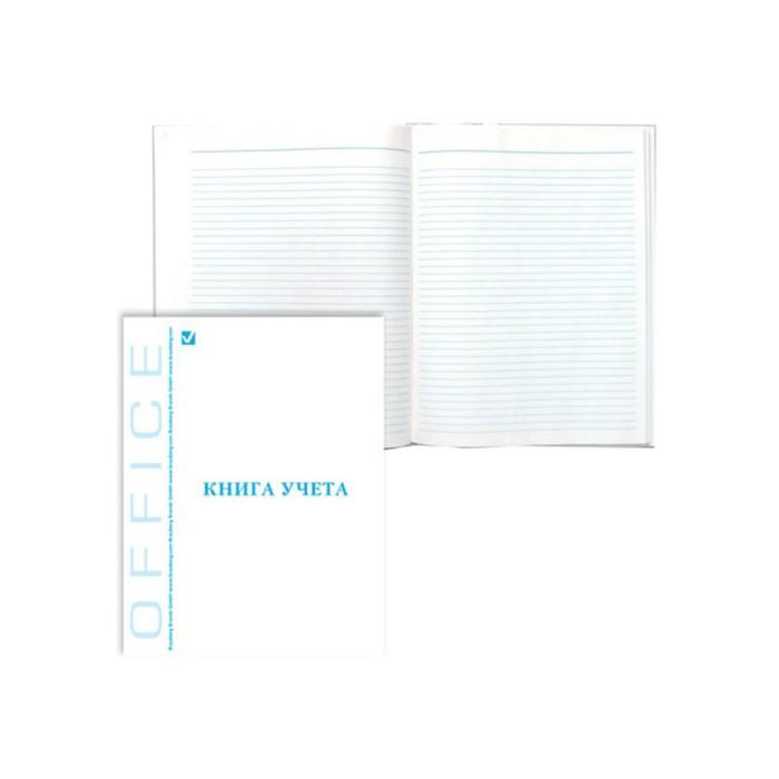 Книга учета А4, 80 листов, линейка BRAUBERG, глянцевая обложка, блок офсет