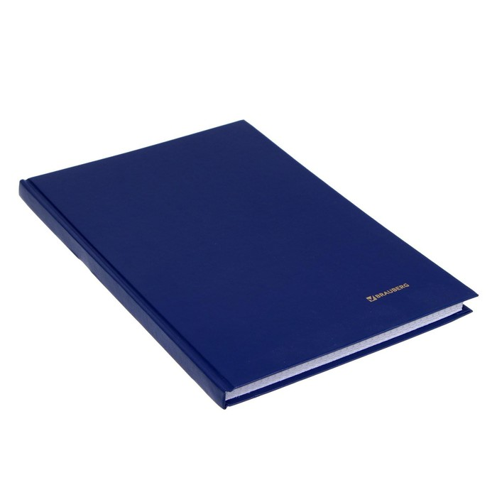 Книга учета А4, 96 листов, клетка BRAUBERG, блок офсет
