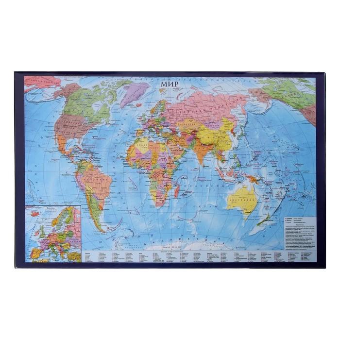 Покрытие настольное 38х59см BRAUBERG, карта мира 236777