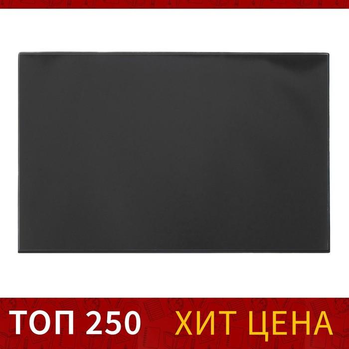Покрытие настольное 38х59см BRAUBERG, с прозрач.карманом, черный 236774