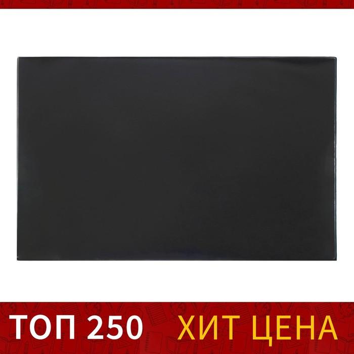 Покрытие настольное 45х65см BRAUBERG, с прозрач.карманом, черный 236775