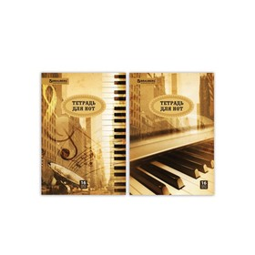 "Notebook for A4 notes, 16 sheets vertical BRAUBERG ""City of sounds"", mix"