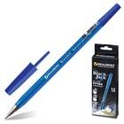 Ручка шариковая BRAUBERG Black Jack, узел 0.7 мм, чернила синие