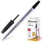 Ручка шариковая BRAUBERG Line, стержень черный 1 мм