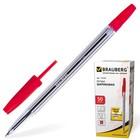 Ручка шариковая BRAUBERG Line, стержень красный 1 мм