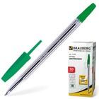 Ручка шариковая BRAUBERG Line, стержень зелёный 1 мм