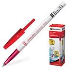 Ручка шариковая BRAUBERG, узел 1.0 мм, чернила красные