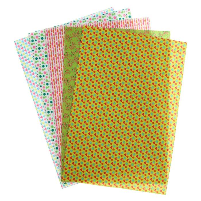 Фетр А4, 5 листов, 5 цветов BRAUBERG «Весёлая геометрия», с рисунком - фото 366919884