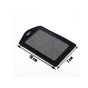 Badge-pocket vertical 70*100 mm PVC black