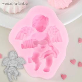 "Mold silicone 9×7.4 cm ""angel letter"""