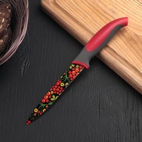 """Нож с антиналипающим покрытием 12 см """"Хохлома"""""""