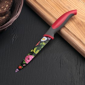 """Нож с антиналипающим покрытием 12 см """"Жостово"""""""