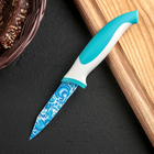 """Нож с антиналипающим покрытием 8 см """"Гжель"""""""