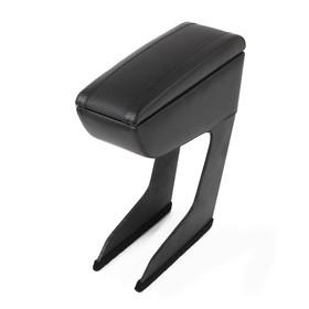 Armrest Nissan Terrano, 2013-N. D., leather, black
