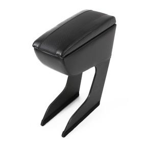 Armrest Renault Logan, 2004-2014, faux leather, black