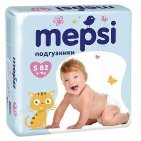 Подгузники Mepsi S (4-9кг), 82шт