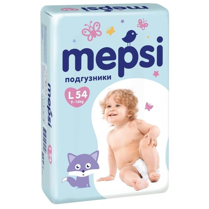 Подгузники Mepsi L (9-16кг), 54 шт