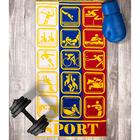 Полотенце махровое Авангард 70х140 см, 3024, Спорт МИКС, 420 гр/м